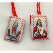 Red Wool Scapular, Sacred Heart - (10 Pack)