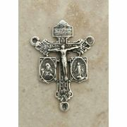 Sterling Silver Center, Christ w/ Miraculous Medal & Scapular, 1 1/4 in.