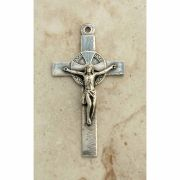 Sterling Silver Crucifix, Spain, Late 19th Century, 2 3/4 in.