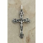Sterling Silver Crucifix, France, 2 1/4 in.
