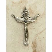 Sterling Silver Crucifix, Trinity Cross, 2 1/4 in.