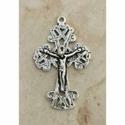 Sterling Silver Crucifix, Ireland, Celtic, Late 19th Century, 2 in.