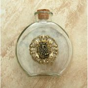 Vintage Style Holy Water Bottle, St. Michael the Archangel Medal