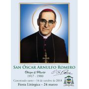 Spanish Special Limited Edition Collector's Series Commemorative St. Oscar Romero Canonization Holy Cards - (50 Pack)