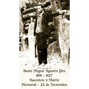Spanish Blessed Miguel Pro Prayer Card - (50 Pack)