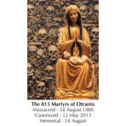 813 Martyrs of Otranto Prayer Card (50 pack)