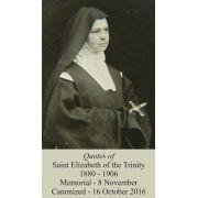 Canonization Version Saint Elizabeth of the Trinity Prayer Card 50pk