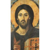 Christ Icon Magnet High Gloss UV Coating Over The Image