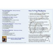 How to Pray the Rosary Fold-over Prayer Card (50 pack)