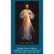 Jubilee Year of Mercy - Divine Mercy Chaplet Prayer Card (50 pack)