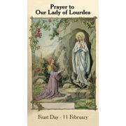Our Lady of Lourdes Prayer Card (50 pack)