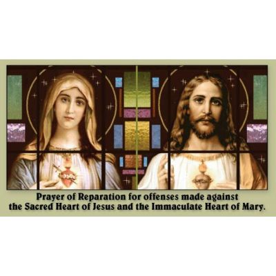 Prayer of Reparation to the Hearts of Jesus & Mary Holy Card 50pk -  - PC-103