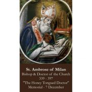 Saint Ambrose Prayer Card (50 pack)