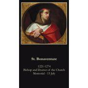 Saint Bonaventure Prayer Card (50 pack)