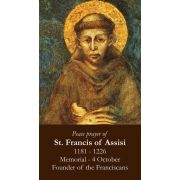 Saint Francis Peace Prayer Holy Card (50 pack)