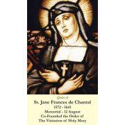 Saint Jane Frances de Chantel Holy Card (50 pack)