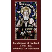 Saint Margaret of Scotland Prayer Card (50 pack)