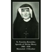 Saint Maria Faustina Prayer Card (50 pack)