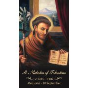 Saint Nicholas of Tolentino Prayer Card (50 pack)