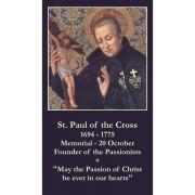 Saint Paul of the Cross Prayer Card (50 pack)