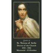 Saint Teresa of Avila Prayer Card (50 pack)