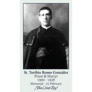 Saint Toribio Romo Gonzalez Prayer Card (50 pack)