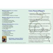 Spanish How to Pray the Rosary Fold-over Prayer Card (50 pack)