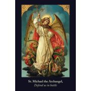 St. Michael the Archangel Defend Us In Battle Prayer Card Jumbo 50pk