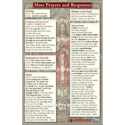 Updated Catholic Mass Translation Pew Prayer Cards (50 pack) -  - MC85X55