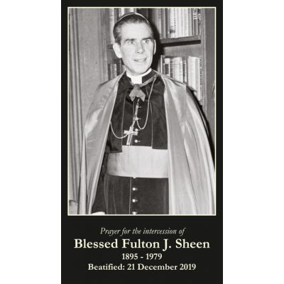 Blessed Archbishop Fulton J. Sheen Prayer Card (50 pack) -  - PC-245