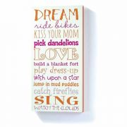 Wall Decor Mdf 8x18in Girl Drm
