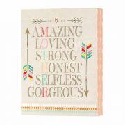 Tabletop Plaque-mdf-6x8x1.75 - (Pack of 2)