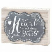 Tabletop Plaque-mdf-8x6 Inches My Heart Is - (Pack of 2)