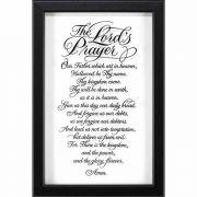Framed Wall Art The Lord's Prayer 11x16 Od