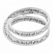 Ring Silver Plated Double Mobius Ep6:13 Sz 6 - (Pack of 2)