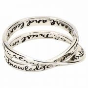 Ring Silver Plated Double Mobius Pr3:5,6 Sz 9