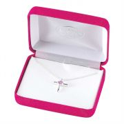 Necklace Silver Plated June. Birthday Cross-18 Inches Ch
