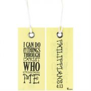Bookmark Fabric Ribbon I Can Do All Things Philippians 4:13, 6pk