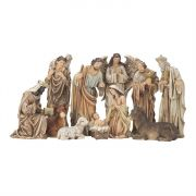"Nativity Set Resin 11 Pc 12"" High"