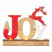 Tabletop Joy Wood Led 8.875 X 2.375 X7.5