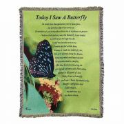 Throw Rug Today I Saw A Butterfly Cotton