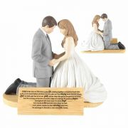 Figurine Bride&groom Hear Our Prayer 5 Inches - (Pack of 2)