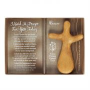 Hand Held Wood Cross I Said A Prayer For You Today (Pack of 3)