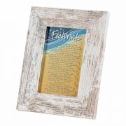 Photo Frame Tabletop Footprints 4x6 White Frame - (Pack of 2)