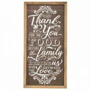 Wall Plaque Thank You For The Food