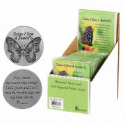 Pocket Stone Today I Saw A Butterfl - (Pack of 24)
