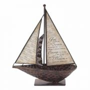 Sailboat Serenity Prayer Meatl 10.5
