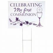 Yard Sign Communion Jn 6:33 Pvc 18x24 - (Pack of 3)