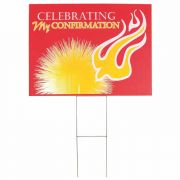 Yard Sign Confirmation Jn 8:12 Pvc 18x24 - (Pack of 3)
