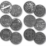 Assorted Pocket Pewter Coin 1.125 Inch Pack of 72